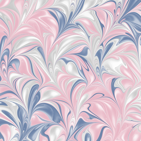 BlueJayBlush-PSwirl fabric by modernmarbling on Spoonflower - custom fabric