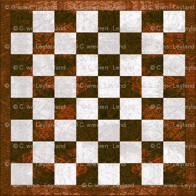 Chess Board - copper brown checkered