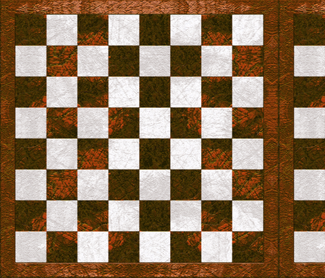 Chess Board - copper brown checkered fabric by wren_leyland on Spoonflower - custom fabric