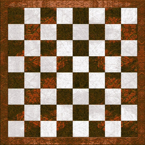 Chess Board - copper brown checkered