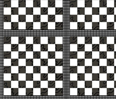 "Chess Board Houndstooth B&W 12"" fabric by wren_leyland on Spoonflower - custom fabric"