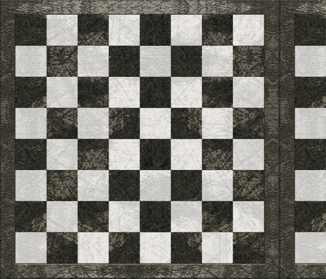Chess Board - Charcoal Gray fabric by wren_leyland on Spoonflower - custom fabric