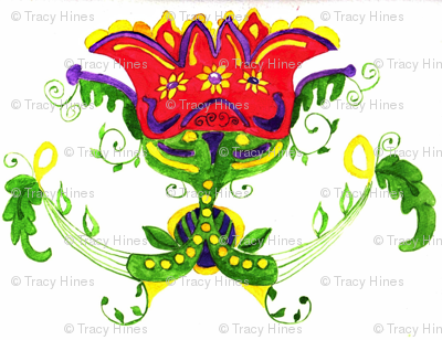 Dutch Folk Art flower