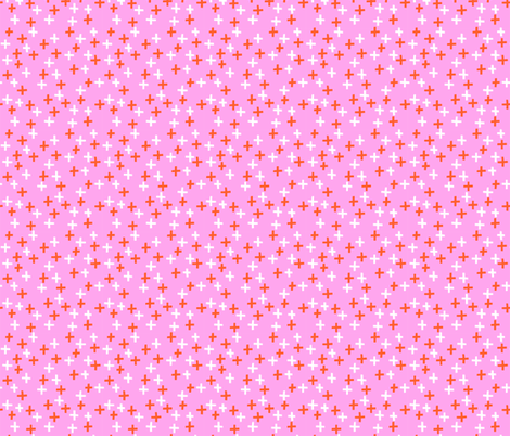 Plus - Pink + Orange fabric by kristinnohe on Spoonflower - custom fabric