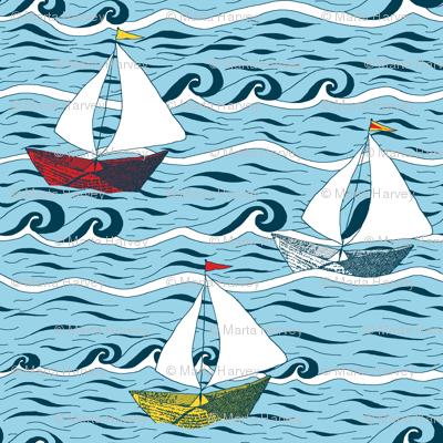 Newspaper Boat - Sailing