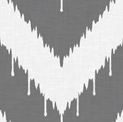 Charcoal Beaded Ikat