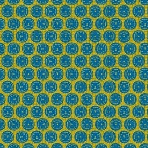 Small Aileron Dots in Blue on Yellow