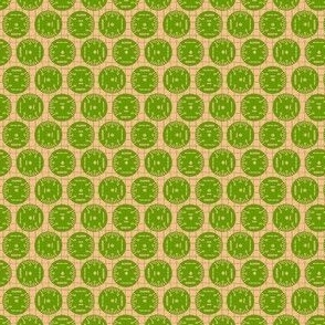 Small Aileron Dots in Green on Orange