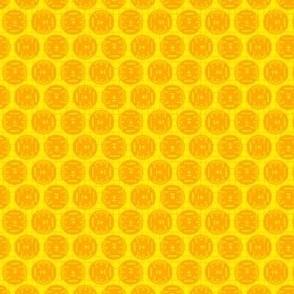 Small Aileron Dots in Orange on Orange