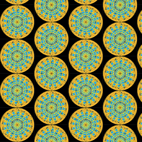 FLOWER OF LIFE 3 fabric by dovetail_designs on Spoonflower - custom fabric