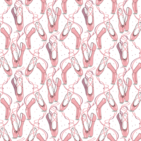 Ballet Pink fabric by louisehenderson on Spoonflower - custom fabric