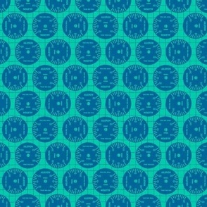Large Aileron Dots in Blue on Blue