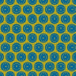 Large Aileron Dots in Blue on Yellow