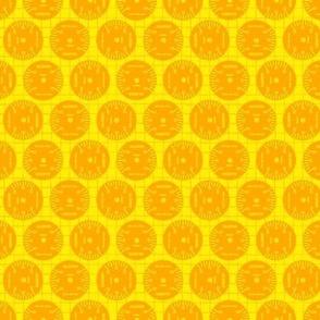 Large Aileron Dots in Orange on Orange