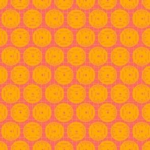 Large Aileron Dots in Orange on Pink