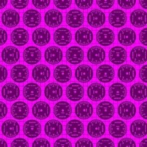 Large Aileron Dots in Purple on Purple