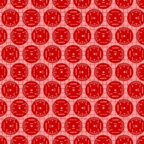 Large Aileron Dots in Red on Red