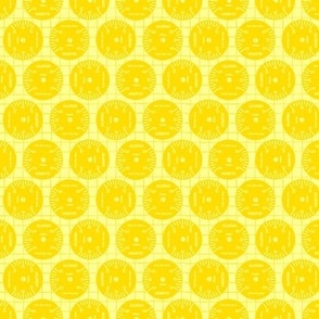 Large Aileron Dots in Yellow on Yellow