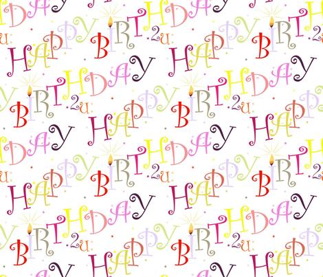 Happy_Birthday2U fabric by alfabesi on Spoonflower - custom fabric