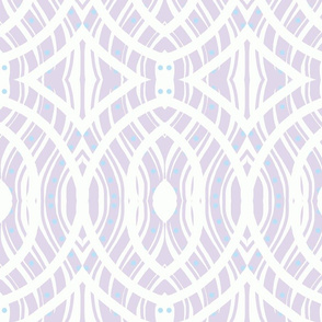 Lavender Oval Pattern