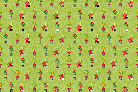 Pear_Topiary_Damask fabric by kelly_a on Spoonflower - custom fabric