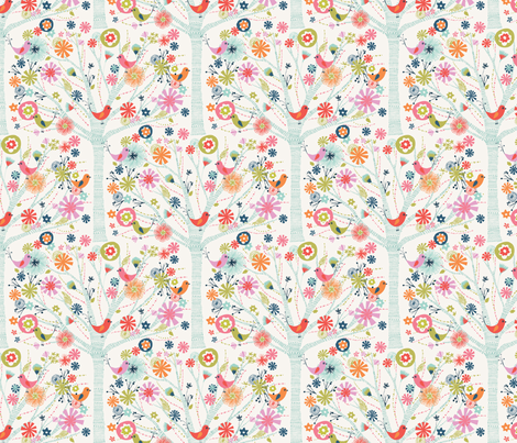 pretty tree fabric by bethan_janine on Spoonflower - custom fabric