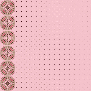 Moroccan Tiles 3 - Pink-Brown