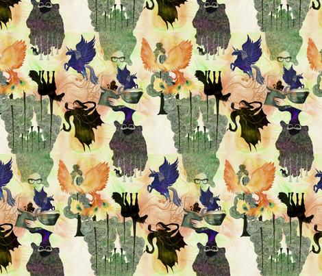Unicorns_Dragons fabric by eeillustration&design on Spoonflower - custom fabric