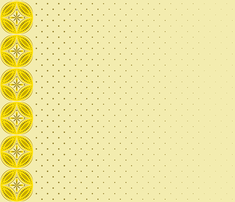 Moroccan Tiles 3 - Yellow fabric by shannonmac on Spoonflower - custom fabric