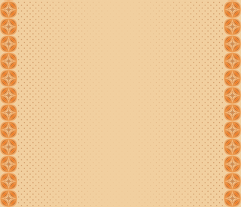 Moroccan Tiles 3 - Orange fabric by shannonmac on Spoonflower - custom fabric
