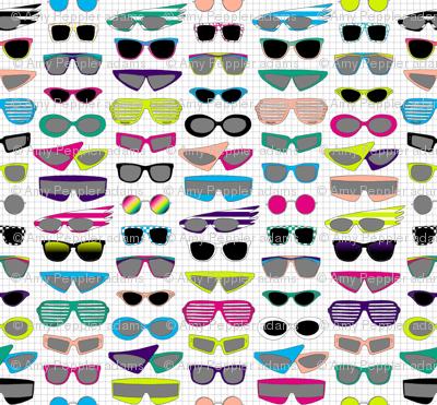Shades || retro 80s vintage sunglasses glasses fashion neon nerd geek punk emo new wave