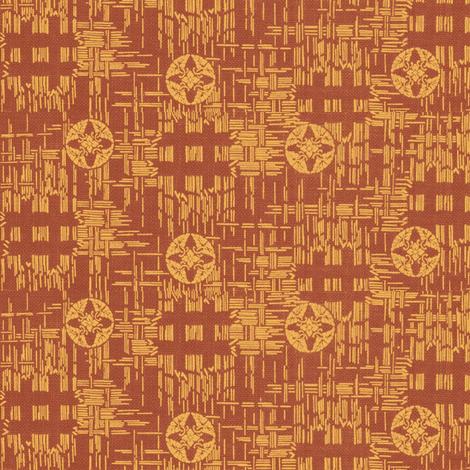 crossflower - rustic red, mellon fabric by materialsgirl on Spoonflower - custom fabric