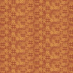 crossflower - rustic red, mellon