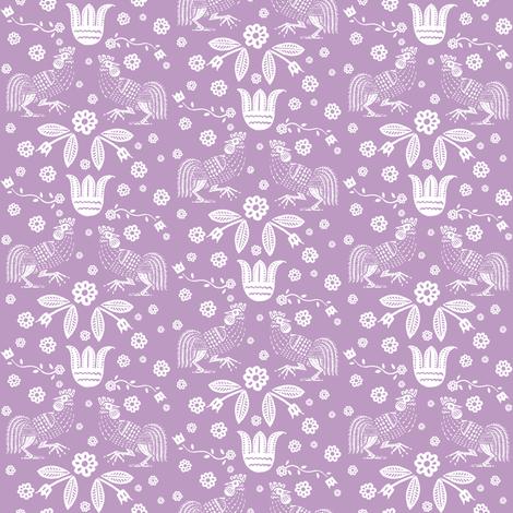 barnyard toile orchid fabric by keweenawchris on Spoonflower - custom fabric