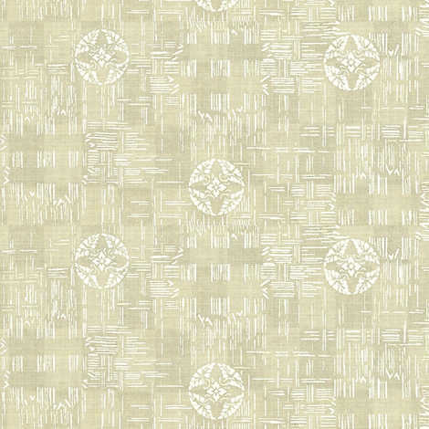 crossflower - biscuit & white fabric by materialsgirl on Spoonflower - custom fabric