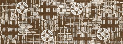 crossflower - brown/white