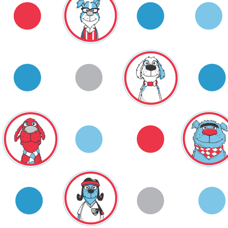 The Barkles  fabric by ccdarby on Spoonflower - custom fabric
