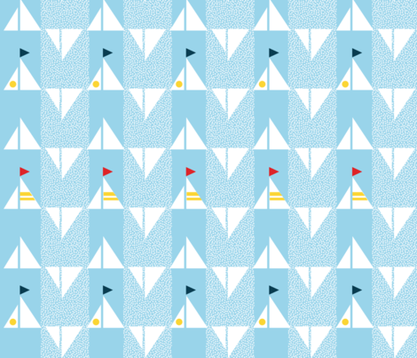 Sails on Sails fabric by spoonnan on Spoonflower - custom fabric