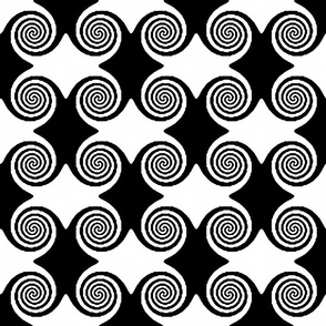 Hypno Ripples - Black and White