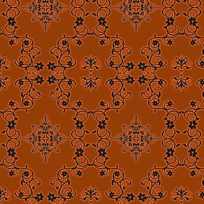 Floral5-black/rust