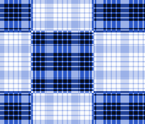 Blue Plaid - Large fabric by telden on Spoonflower - custom fabric