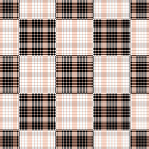 Peach and Gray Plaid - Large