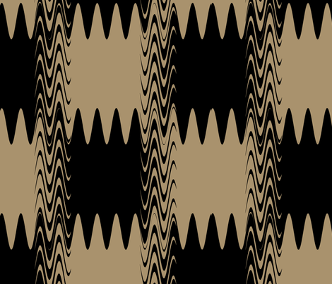 Wonky Checks - Brown fabric by telden on Spoonflower - custom fabric