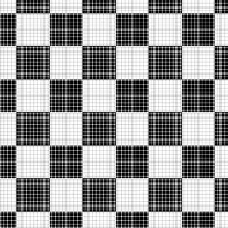 Plaid Checkerboard fabric by telden on Spoonflower - custom fabric