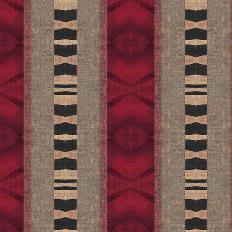 Safari Sari stripe - red, beige, black fabric by materialsgirl on Spoonflower - custom fabric