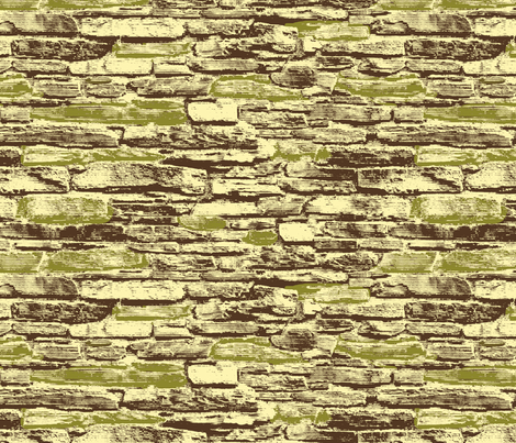 Derry City Walls - green accent fabric by cherryandcinnamon on Spoonflower - custom fabric
