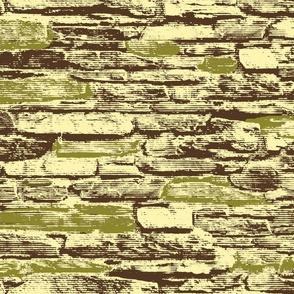 Derry City Walls - green accent