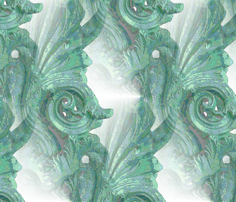 Architectural green fabric by miart on Spoonflower - custom fabric