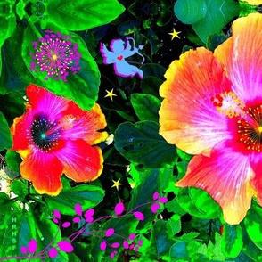 Mirrored Hibiscus Fantasy