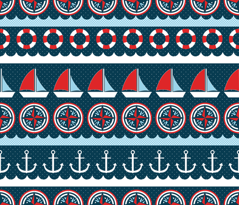 Hello Sailor fabric by linziloop on Spoonflower - custom fabric